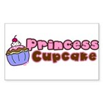 Princess Cupcake Rectangle Sticker