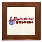 Princess Cupcake Framed Tile