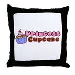 Princess Cupcake Throw Pillow