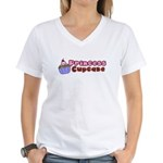 Princess Cupcake Women's V-Neck T-Shirt