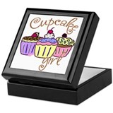 Cupcake Girl Keepsake Box