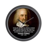 Thomas Hobbes: War Wall Clock