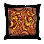 Fractal C~01 Throw Pillow (18