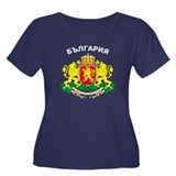 Bulgaria arms with name Women's Plus Size Scoop Ne