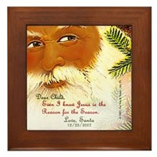 """Dear Child"" from Santa Framed Tile"