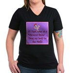 If I keel over shopping... Women's V-Neck Dark T-S