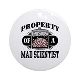 Property of a Mad Scientist Ornament (Round)