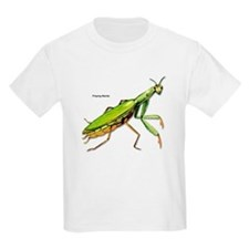 Praying Mantis Insect (Front) Kids T-Shirt