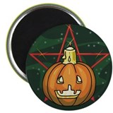 "Pumpkin, Candle, Pentagram 2.25"" Magnet (100 pack)"