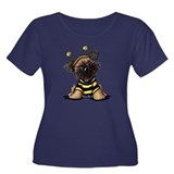 Brussels Griffon Bee Women's Plus Size Scoop Neck