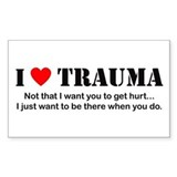 I [heart] Trauma Rectangle Stickers