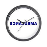 AMBULANCE [backward] Wall Clock