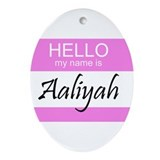 Aaliyah Oval Ornament