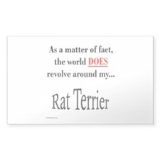 Rat Terrier World Rectangle Decal
