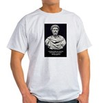 Marcus Aurelius Stoicism Ash Grey T-Shirt