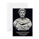 Marcus Aurelius Stoicism Greeting Cards (Package o
