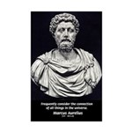 Marcus Aurelius Stoicism Mini Poster Print