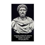 Marcus Aurelius Stoicism Rectangle Sticker