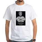 Marcus Aurelius Stoicism White T-Shirt