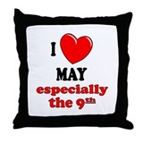 May 9th Throw Pillow
