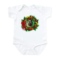 Norwegian Elkhound Christmas Infant Bodysuit