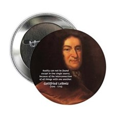 "Gottfried Leibniz Metaphysics 2.25"" Button (10 pac"