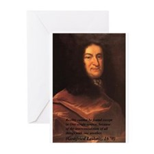 Gottfried Leibniz Metaphysics Greeting Cards (Pack