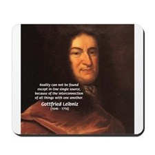 Gottfried Leibniz Metaphysics Mousepad