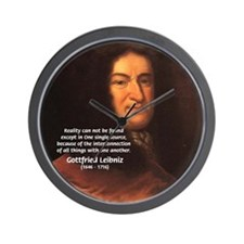 Gottfried Leibniz Metaphysics Wall Clock