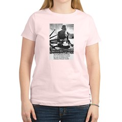 Gandhi Truth Philosophy Women's Pink T-Shirt