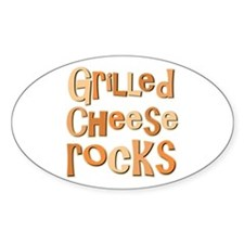 Grilled Cheese Rocks Lover Oval Decal