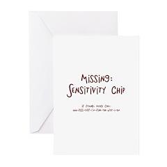Missing Sensitivity Chip..Call Greeting Cards (Pk