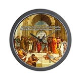 Raphael School of Athens Wall Clock