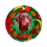 Doberman Christmas Ornament (Round)