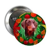 Doberman Christmas Button