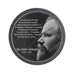 Poincare: Nature Science Wall Clock