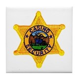 Casino Security Tile Coaster