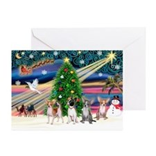 XmasMagic/Chihuahuas Greeting Cards (Pk of 20)