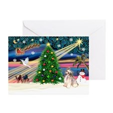 XmasMagic/Puff Crested Greeting Cards (Pk of 20)