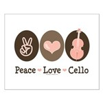 Peace Love Cello Small Poster