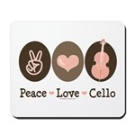 Peace Love Cello Mousepad