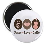 Peace Love Cello Magnet