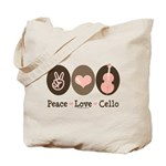 Peace Love Cello Tote Bag