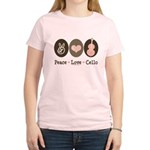 Peace Love Cello Women's Light T-Shirt