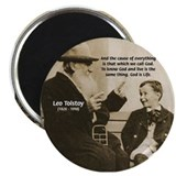 "Leo Tolstoy: God Quotes 2.25"" Magnet (100 pack)"