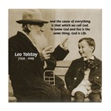 Leo Tolstoy: God Quotes Tile Coaster