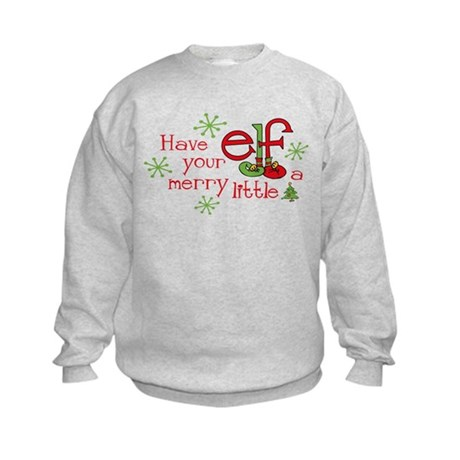 Merry Elf Kids Sweatshirt