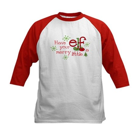 Merry Elf Kids Baseball Jersey