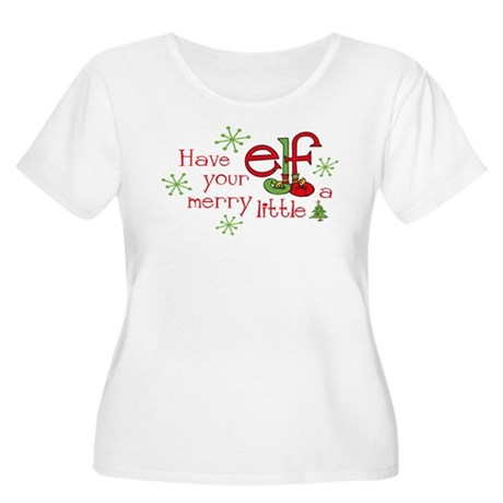 Merry Elf Women's Plus Size Scoop Neck T-Shirt