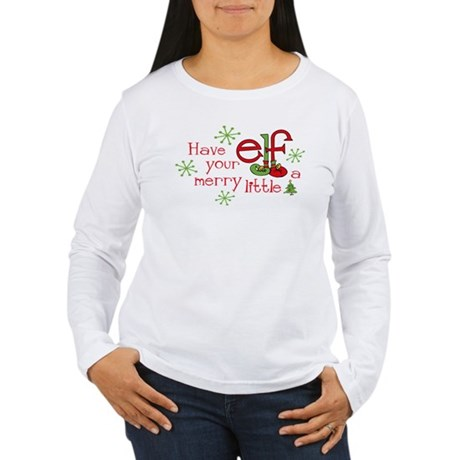 Merry Elf Women's Long Sleeve T-Shirt